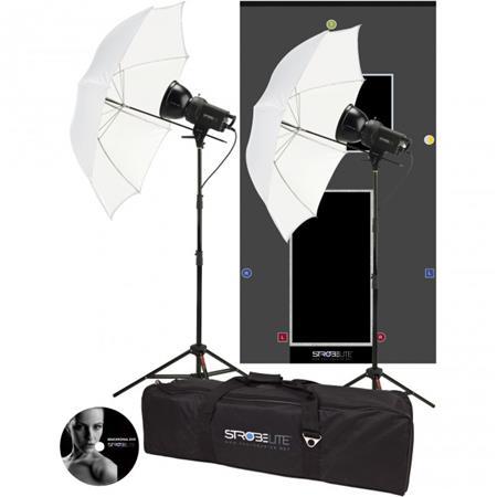 Westcott Strobelite Two Monolight Kit Two Watt Second Monolights Umbrellas Light Stands Carry Case 88 - 653
