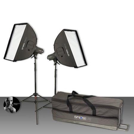 Westcott Strobelite Plus Two Monolight Kit Two Watt Second Monolights Softboxes Light Stands Carry C 68 - 723