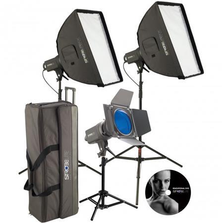 Westcott Strobelite Plus Three Monolight Kit Three Watt Second Monolights Softboxes Light Stands Car 178 - 533