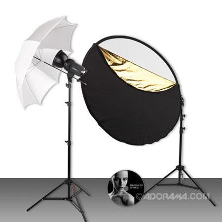Westcott Strobelite Studio Kit One Watt Second Monolight Umbrella Light Stand Reflector FREE Grids  89 - 663