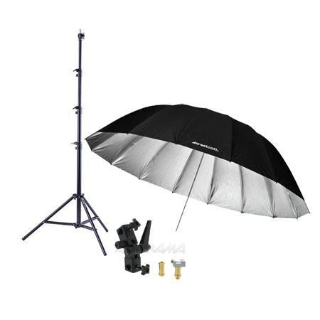 Westcott Feet Silver Parabolic Umbrella BUNDLE Umbrella Bracket Adjutsable Flash Mount Lightstand 194 - 792