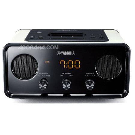 Yamaha TSX BU Classic Retro Design Radio Alarm Clock iPod Dock Beige 124 - 286