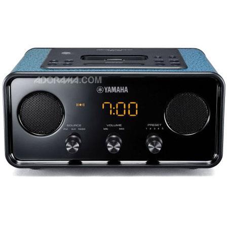 Yamaha TSX BU Classic Retro Design Radio Alarm Clock iPod Dock Dark Blue 414 - 355