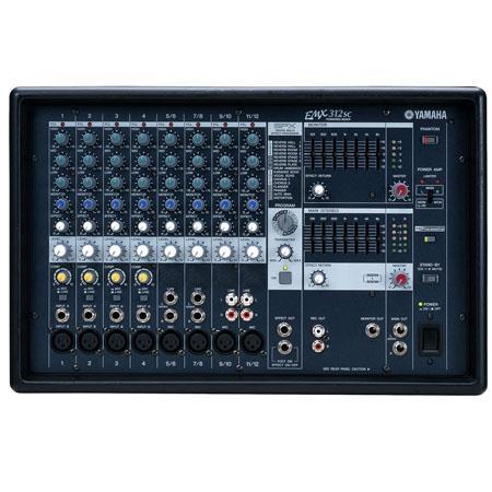 Yamaha EMXSC Channel Stereo Powered Mixer Dual Watt Power Amplifiers XLR Inputs 110 - 39