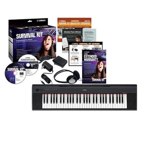 Yamaha Piaggero NP Key Piano Style Keyboard Survival Kit 152 - 241