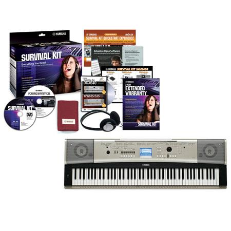 Yamaha YPG Keys Portable Grand Keyboard Survival Kit Ddots Display W W AmplifiersUser Songs 24 - 409