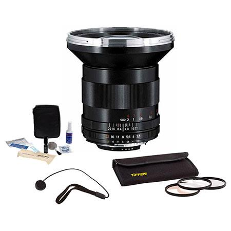 Zeiss f Distagon T ZF Series Lens Kit Nikon F Mount SLR Cameras Tiffen Photo Essentials Filter Kit L 41 - 393