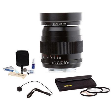 Zeiss f Distagon T ZE Manual Focus Standard Lens Kit Canon EOS SLR Cameras Tiffen Photo Essentials F 71 - 610