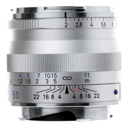 Zeiss Ikon f T Planar ZM Lens Zeiss Ikon Leica M Mount Rangefinder Cameras Silver 287 - 281
