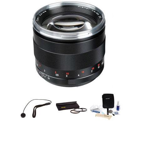 Zeiss f Planar T ZE Series Lens Kit Canon EOS Cameras Tiffen Photo Essentials Filter Kit Lens Cap Le 168 - 93
