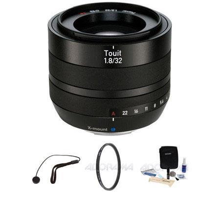 Zeiss f Touit Series Fujifilm Series Cameras Bundle Heliopan UV Multi Coated Filter Flashpoint CapKe 240 - 665