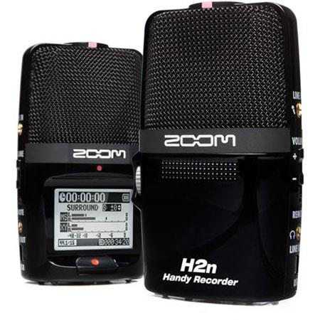 Zoom HN Handy Recorder Five Built Mic Capsules Channel and Channel Surround Backlit LCD Display 67 - 647