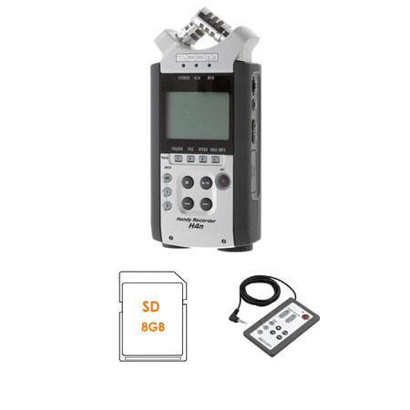 Zoom Hn Handy Mobile Track Recorder Bundle Zoom RC Remote Control GB SD Card 148 - 700