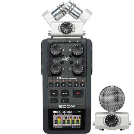 Zoom H Handy Recorder Interchangeable Microphone System Four XLRTRS Inputs 300 - 29