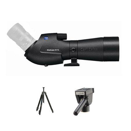Zeiss Diascope T FL Angled Spotting Scope without Eyepiece Bundle Cullmann Tripod Way Head 171 - 221