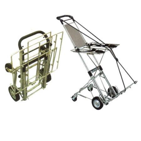 Clipper Folding Equipment Cart lbs Capacity Rear Wheel Assembly Upper Tray 65 - 539