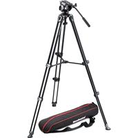 Manfrotto MVKAM Professional Fluid Video System Twin Legs Middle Spreader lbs Load Capacity MaHeight 71 - 320