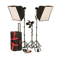 Smith Victor Flk Flashlite Deluxe Basic Studio Light SoftboKit i Ws Flashlite Strobe LightSoft Box 120 - 215