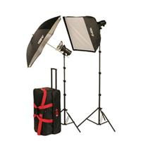 Smith Victor FLK Strobe Light Kit Two FLC Ws FlashLite Strobe LightSoft Box 50 - 225