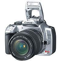 Canon Eos Digital Rebel Megapixels Slr Chrome Camera Body W Lens 75 - 650