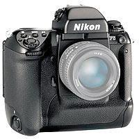 Nikon F SLR Auto Focus Camera Body missing eye piece battery door is cracked but its fully functiona 210 - 603