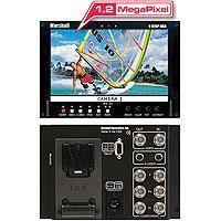 Marshall V RP HDA HDSD TFT MegapixelT Stand alone Video Assist Monitor Analog Inputs IDX V Mount Bat 186 - 422