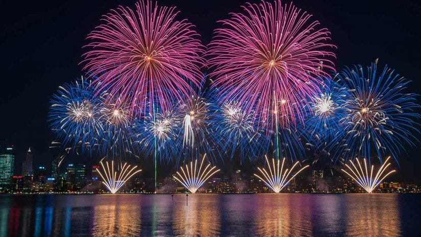 Amazing Multiple Fireworks Photoswith A Little Help From