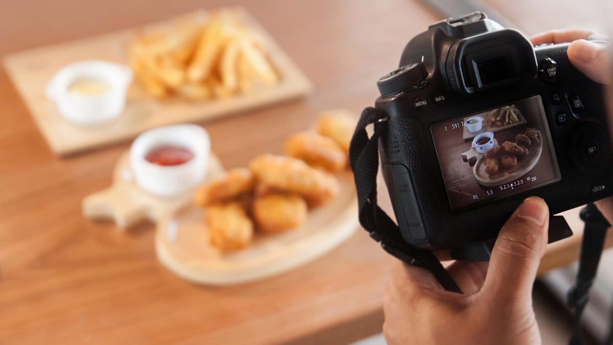 iso for food photography