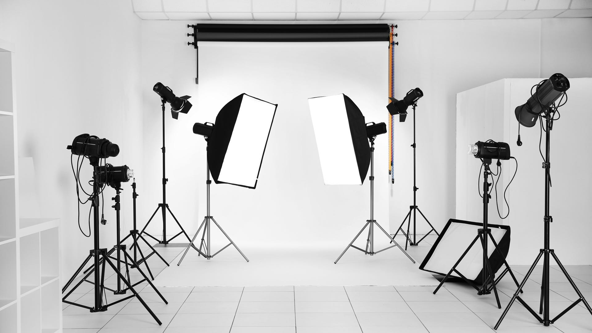 Key lights fill lights hair lights and more different lighting uses for studio strobes