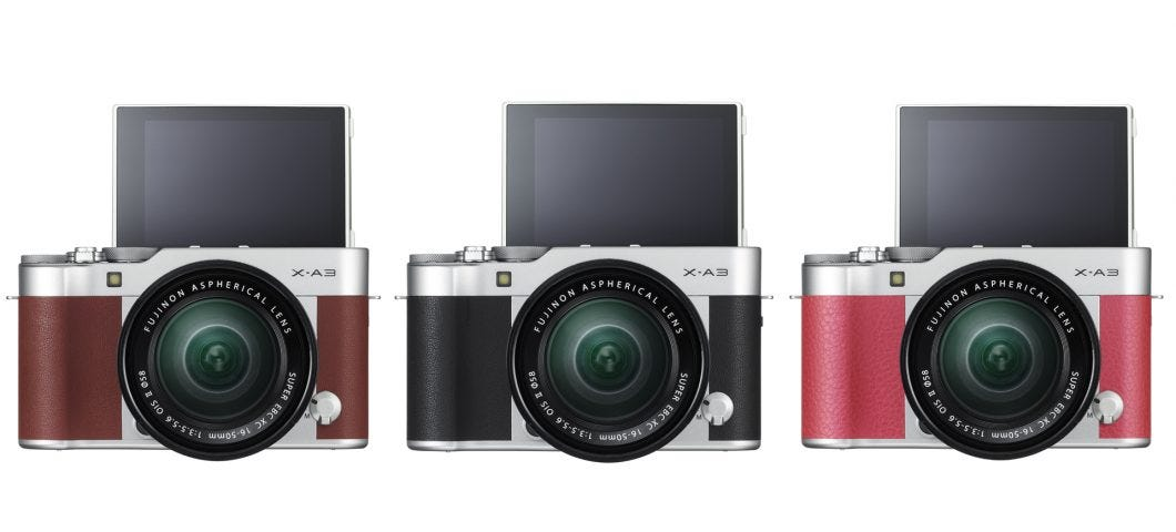 Fujifilm Announces X A3 Mirrorless Camera And 23mm F 2 Wide Angle Lens