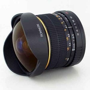 Rokinon 8mm Ultra Wide Angle f/3.5 Fisheye best camera lenses