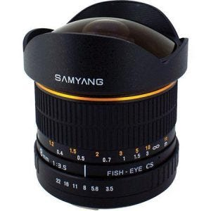 Samyang 8mm Ultra Wide Angle f/3.5 Fisheye best camera lenses