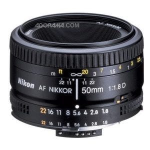 Nikon 50mm f/1.8D best camera lenses