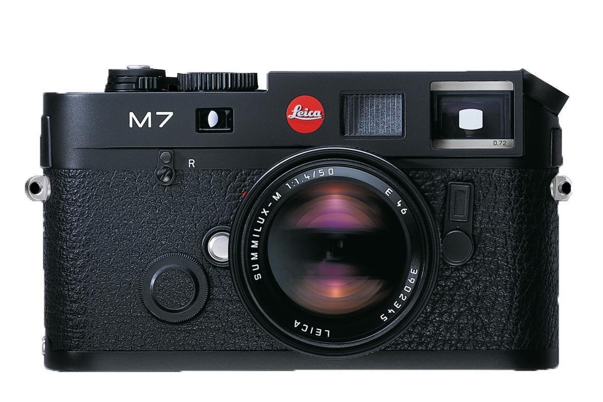 "Leica M7 rangefinder 35mm film camera"""