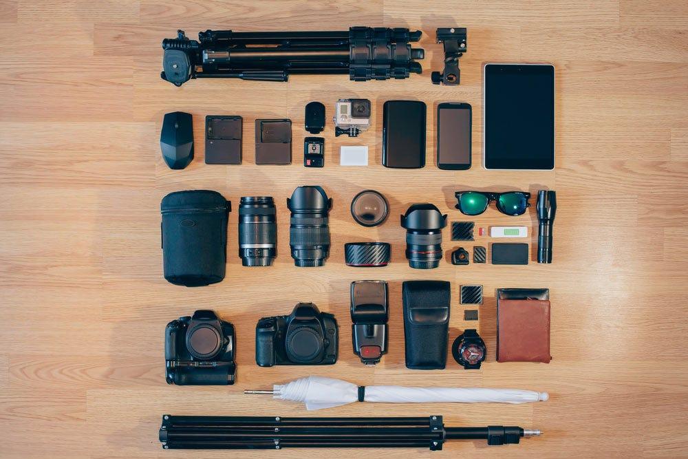 équipement de photographie de mariage