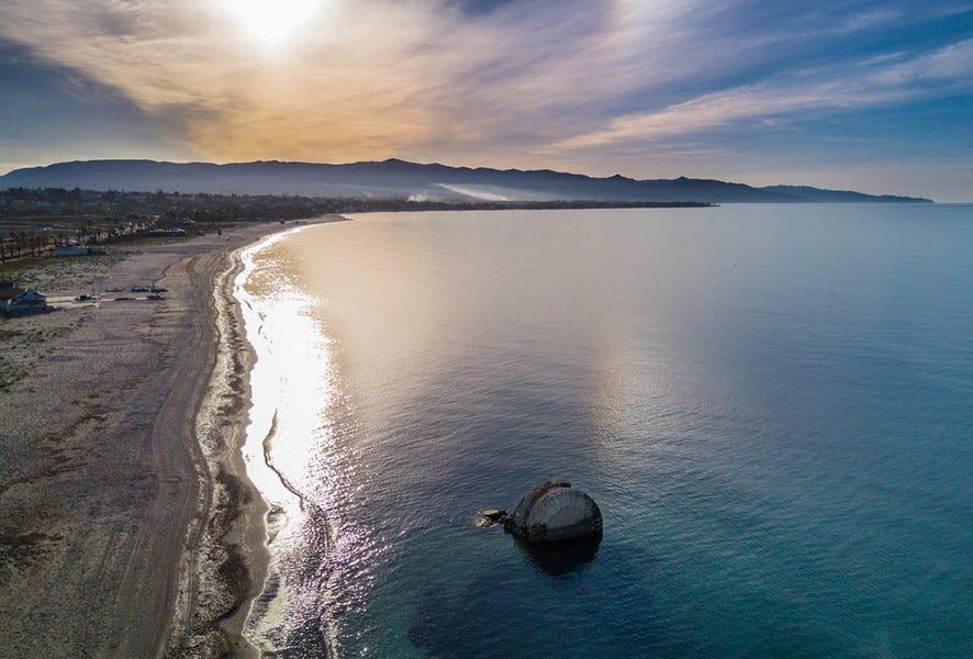 """Drone photo d'une plage """""""