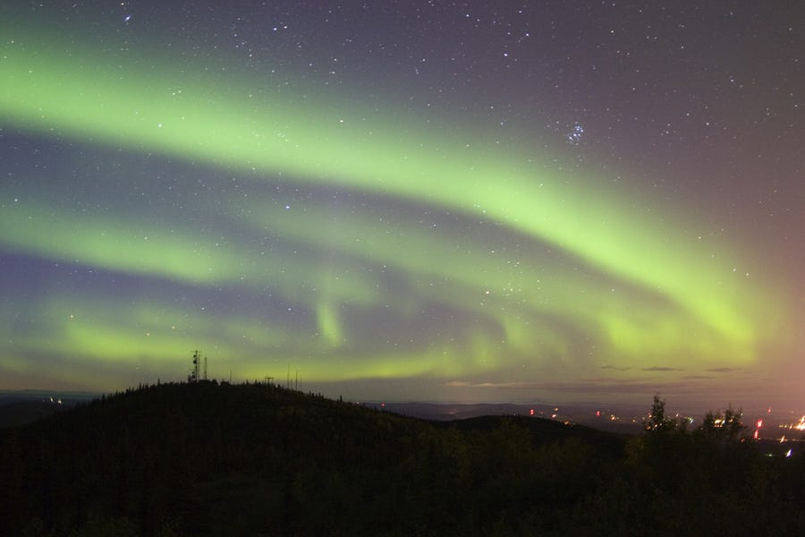 Northern Lights display in Fairbanks, Alaska