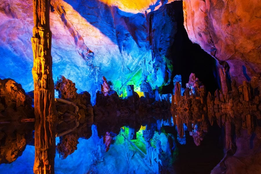 Colorful Reed Flute Cave in China
