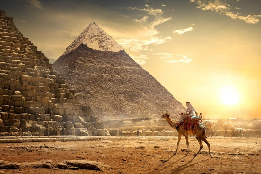 The Great Pyramids of Giza in Cairo, Egypt