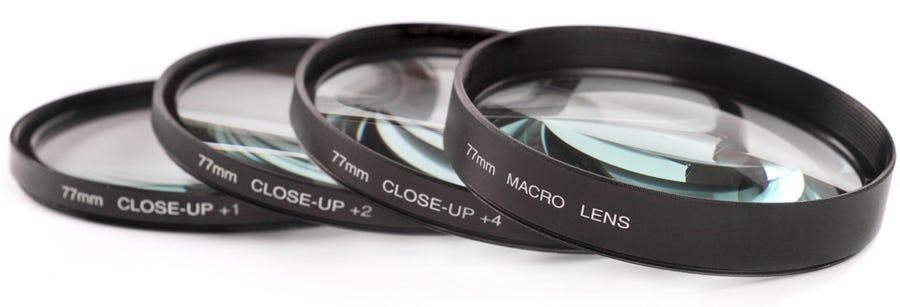 Filtros de lentes de cámara de primer plano