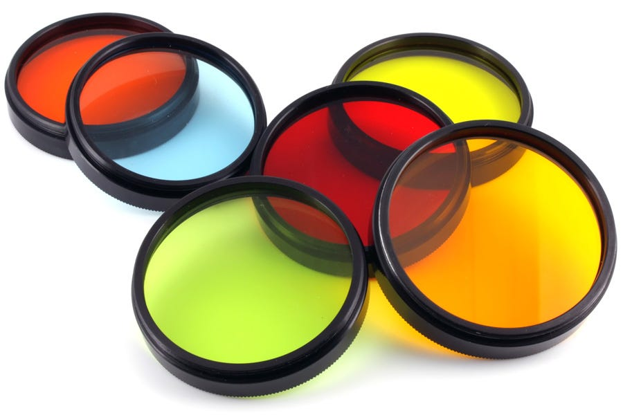 filtros de lentes de cámara de color