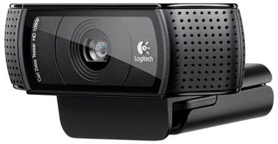 black Logitech C920 webcam for live streaming