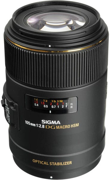 Sigma 105mm f/2.8 EX DG OS HSM Macro Lens for Nikon DSLR Best Lenses for Food Photography