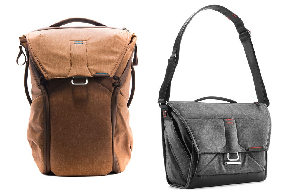 Peak Design 20L Everyday Backpack (left) and Peak Design Everyday Messenger Bag (right)  - peak design - 2018 Back-to-School Buying Guide: The Gadgets Every Student Needs