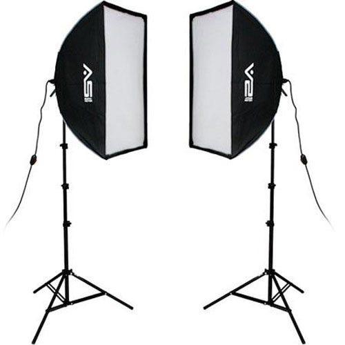 YouTube वीडियो के लिए स्मिथ-विक्टर 2000 वाट प्रो सॉफ्टबॉक्स टू लाइट किट लाइटिंग