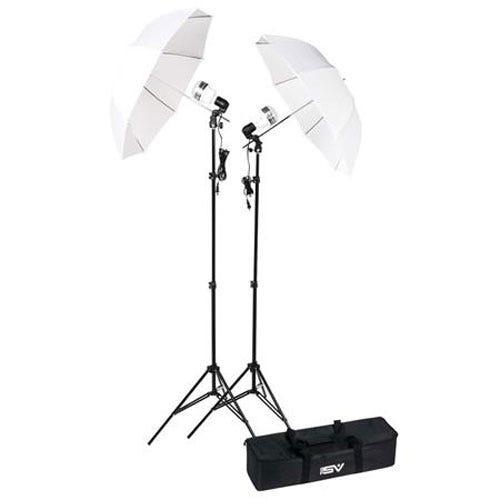 YouTube वीडियो के लिए स्मिथ-विक्टर KT750LED 2-लाइट एलईडी छाता किट लाइटिंग