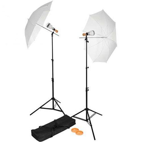 YouTube वीडियो के लिए वेस्टकोट सिंगल-सॉकेट 2-लाइट एलईडी छाता किट लाइटिंग