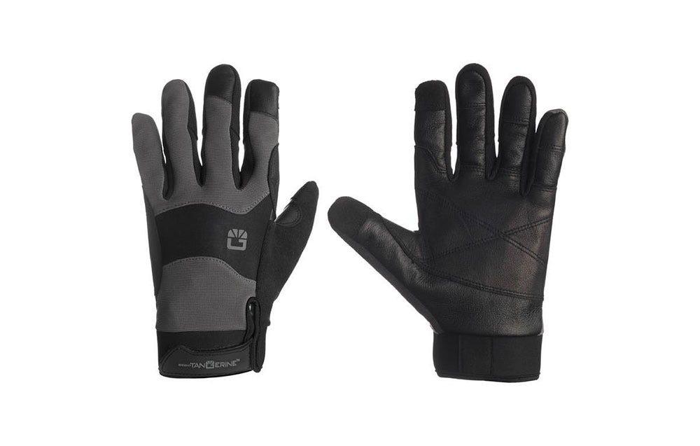 Bright Tangerine ExoSkin Leather Armour Gloves