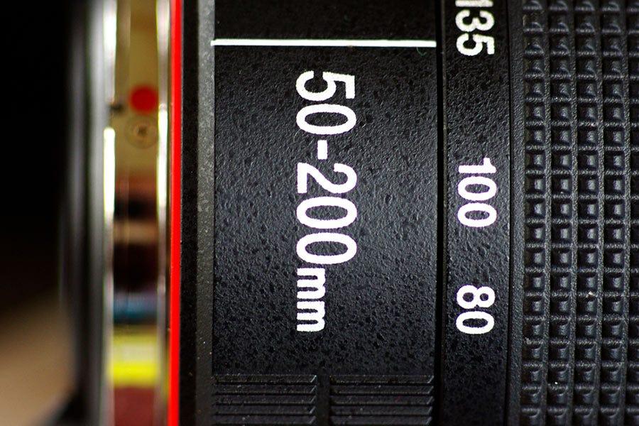focal length marking on prime lens