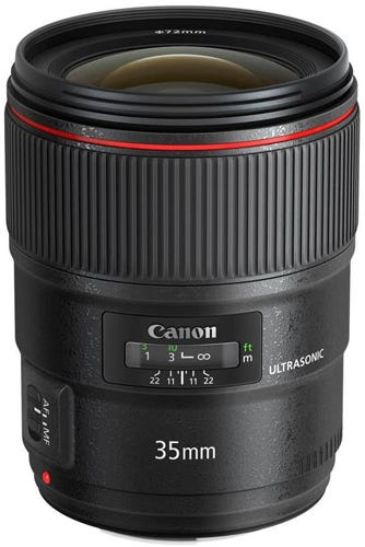 Canon EF 35mm f/1.4L II USM best Canon lens for video